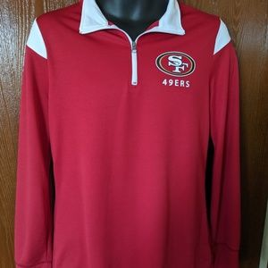 NFL Womens San Francisco 49ers 1/4 Zip Up PullOver